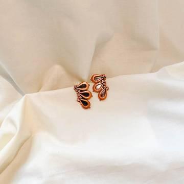 Copper Clip-on Earrings