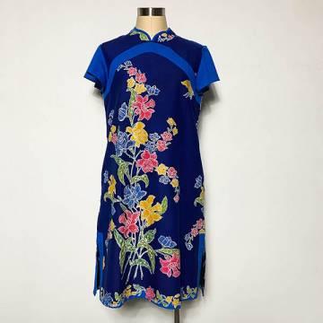 Batik Sapphire Qi Pao Shift Dress