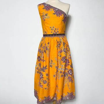 Marigold Blossoms Batik Toga Dress